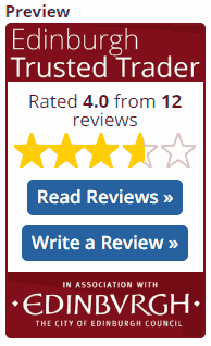 Trusted Trader review widget small but no reviews
